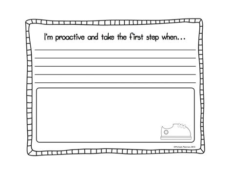 Grade 1 Habits Worksheet Kidschoolz My Favorite Freebie I M Proactive A 7 Habits Craftivity I Edu