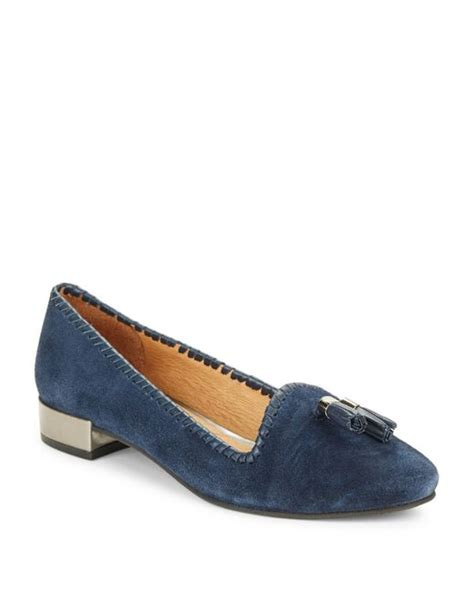 rogers loafers rogers gabrielle suede loafers in blue lyst