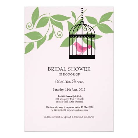 Garden Invitations by Vintage Birdcage Garden Bridal Shower Invitations 5 Quot X 7