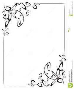 pagina con la decorazione d angolo 2 illustrazione