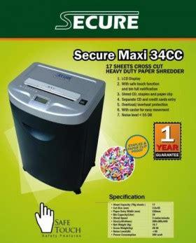 Penghancur Kertas Secure mesin penghancur kertas secure pusat atk murah