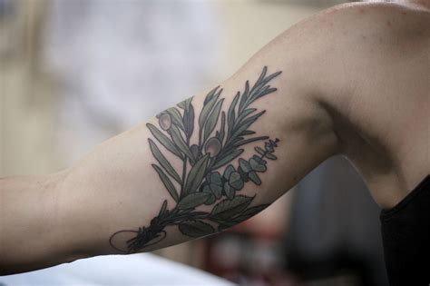 rosemary tattoo olives rosemary eucalyptus mint tattoos and trends