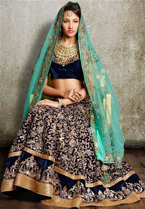 Best Shade Of Blue 15 trendy engagement lehengas to go for this season