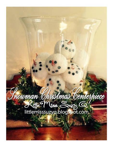 snowman centerpiece ideas miss suzy q snowman snowball centerpiece