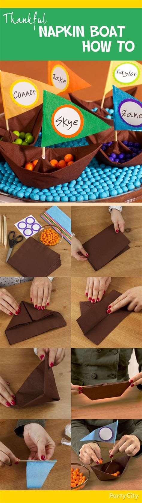 how to make a paper napkin boat make napkin paper boats with this step by step napkin