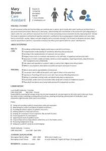 Personal Care Assistant Duties by Care Assistant Cv Template Description Cv Exle Resume Curriculum Vitae Application