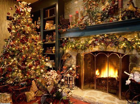 christmas fireplace wallpaper 18373 open walls