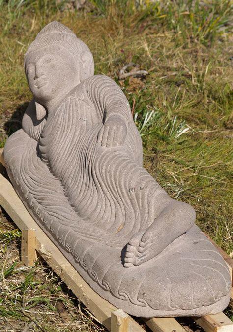 reclining buddha garden statue sold stone reclining buddha statue 44 quot 77ls62 hindu