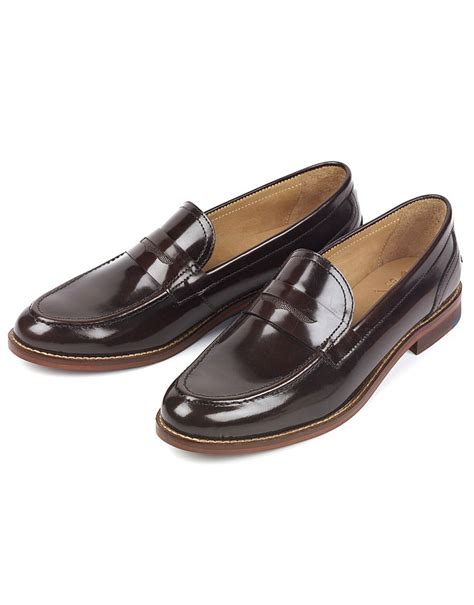 saddle loafers s sidwell saddle loafer in chocolate from crew