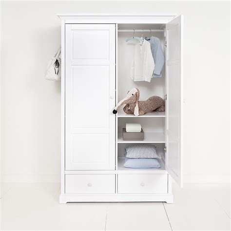 Childrens Wardrobes With Drawers by Childrens Luxury 2 Door Wardrobe In White Desks Drawers