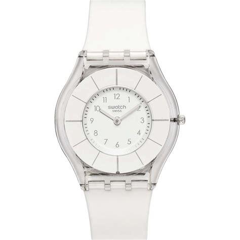 Jam Tangan Swatch Skin sfk360 swatch skin white classiness