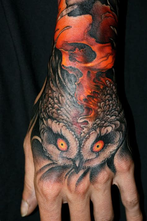 owl tattoo designs on hand tattoo tuesday no 200 senses lost
