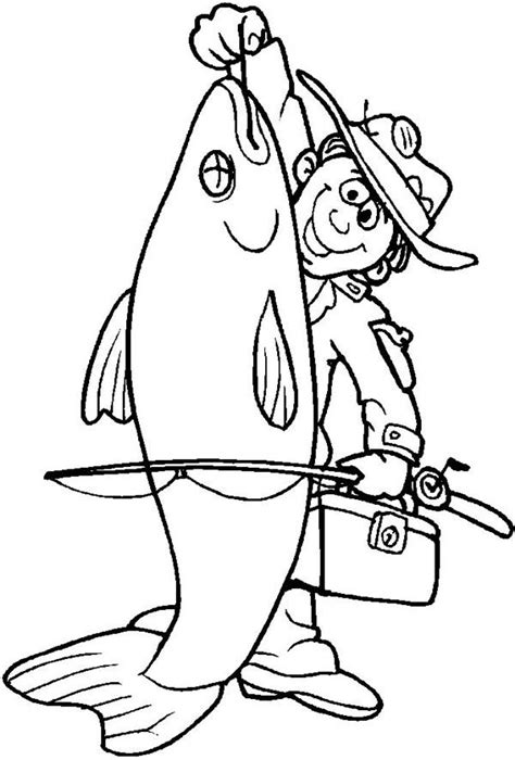 coloring pages of big fish fisherman catch big fish coloring page christnaz