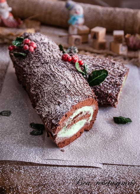 tronco de chocolate tronco de navidad de chocolate y menta recetas de cocina