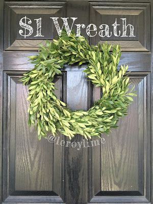 easy  greenery wreath diy wreath green wreath wreaths