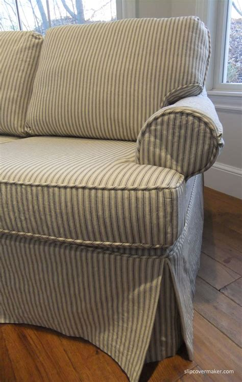 Striped Slipcovers For Sofas Chair Cover Indoor Thesofa