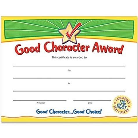 character certificate template pin by positive promotions on academic incentives