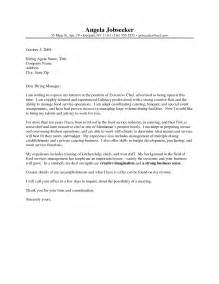 Cover Letter For Chef by Sle Chef Cover Letter The Best Letter Sle