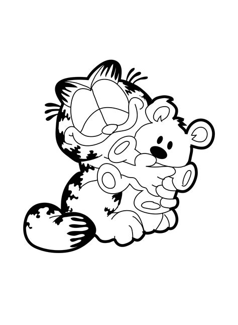 garfield coloring pages garfield like doll coloring page animal coloring