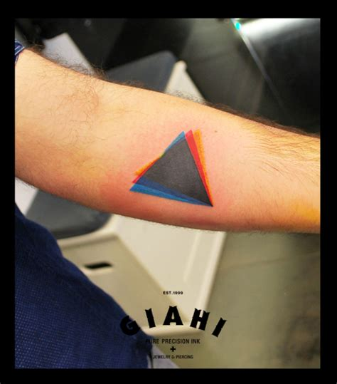 triangle tattoo dispersion triangle by live two best ideas