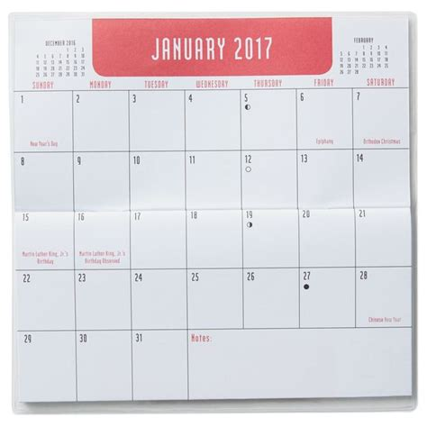2018 pocket calendar templates free printable