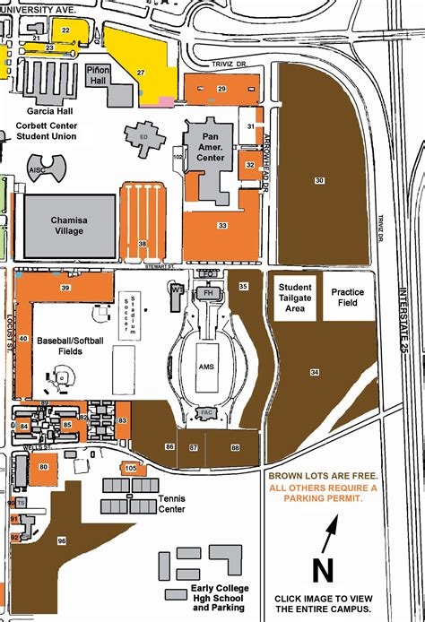 nmsu map parking for pan am center aggie memorial stadium pan american center special events new