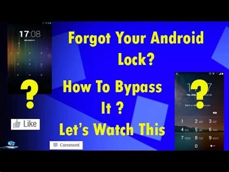 how to unlock android phone when forgot lock pattern or how to unlock android phone pattern lock without losing