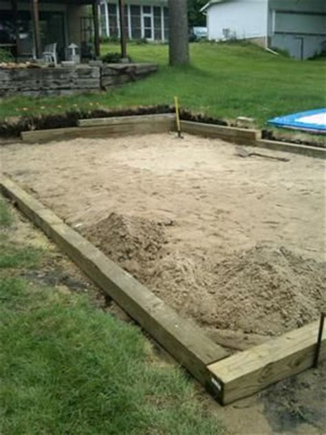 How To Level Backyard Slope by Sand Base For Intex Pool I A 12 X 24 Intex Pool And