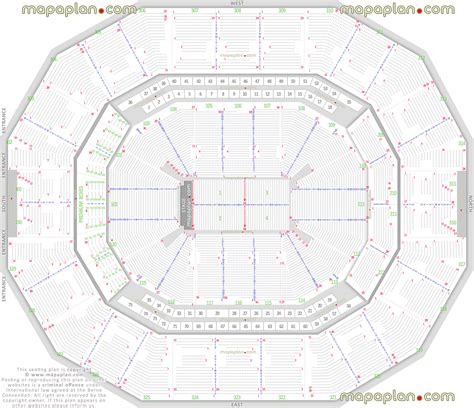 kfc yum center detailed seat row numbers end stage