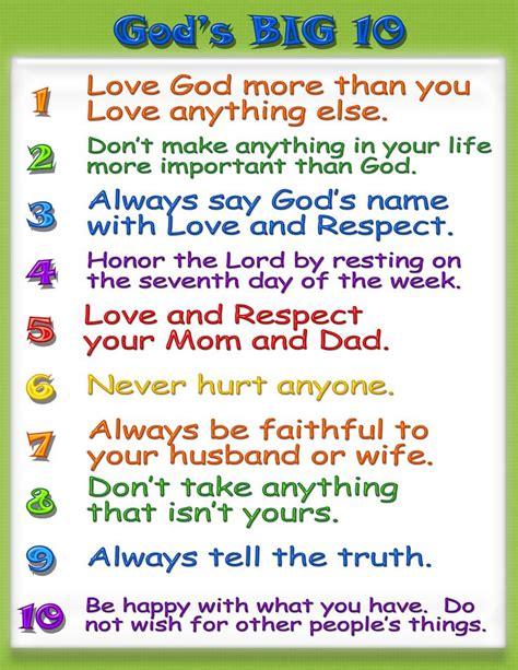 printable version of catholic ten commandments search results for ten commandments printable kid