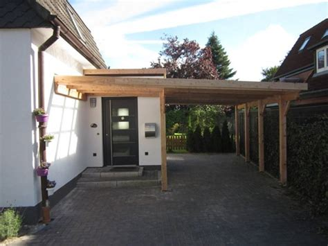 carport lärchenholz carports aus holz f 252 r hamburg und kiel mit holzblende