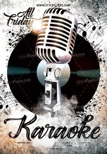 flyer template karaoke night party karaoke night psd flyer template 18216 styleflyers