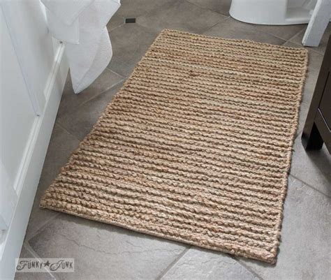 funky bathroom rugs salvaged farmhouse bathroom makeover a mix of reclaimed