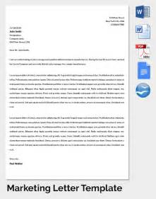 Marketing Cover Letter Exle by Marketing Letter Template 38 Free Word Excel Pdf