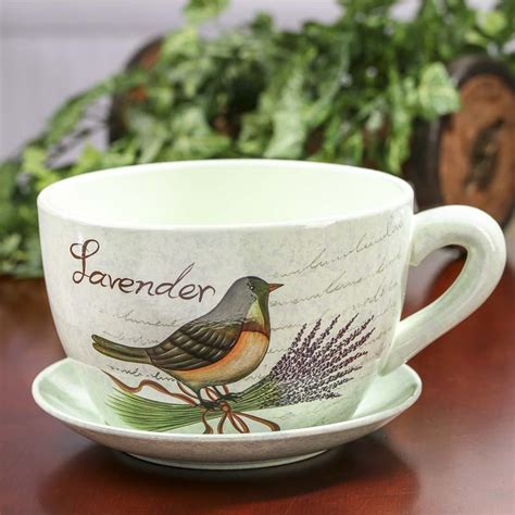 Tea Cup Planter by Quot Lavender Quot Tea Cup And Saucer Flower Planter What S New