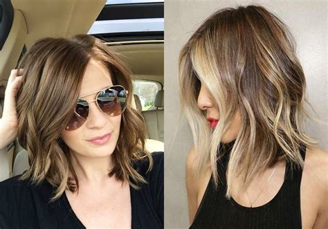 Hairstyles For With Wavy Hair by Trendy Lob Hairstyles You Can Today Hairdrome