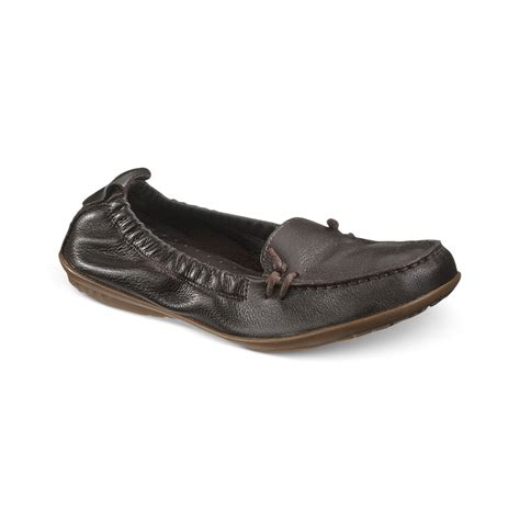 Hush Puppies Kulit Brown Black hush puppies 174 ceil moc flats in brown brown leather lyst