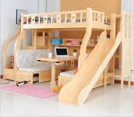 Childrens Bunk Bed With Desk Multi Function Environmental Children Bunk Bed With Study Desk Drawer Slides In Children Beds