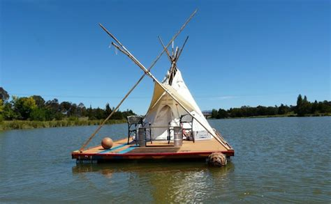 Best Diy Home Design Blogs by Student Builds Floating Teepee House On Homemade Raft