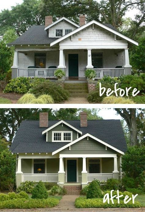 before and after exterior home makeovers