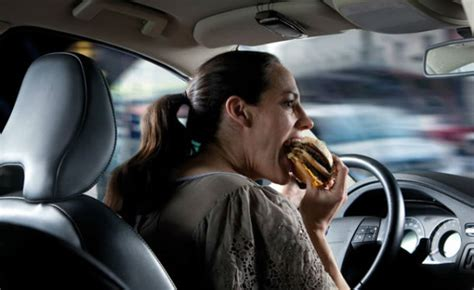 eating while driving riskier than being legally impaired