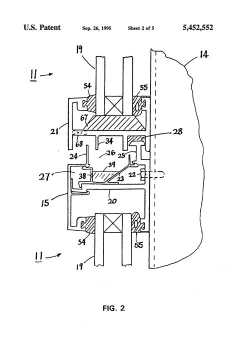 curtain wall parts patent us5452552 leakproof framed panel curtain wall