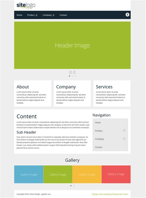 Free E Resume Website Templates by 2 Column Website Template Embellishment