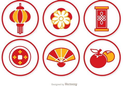 new year ram vector simple lunar new year circle icons vector free
