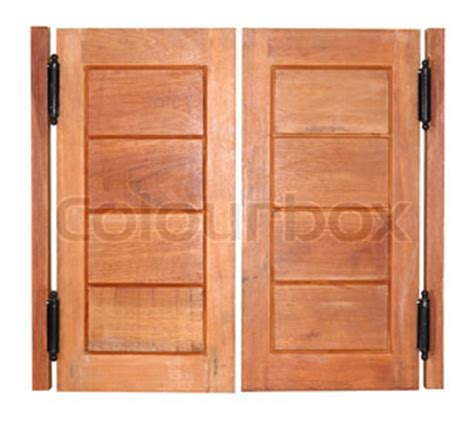 wooden swing doors double swing wood door stock photo colourbox