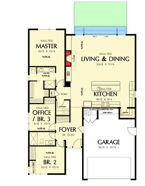 story contemporary   small lot house plans