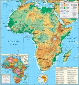 physical maps of map of africa physical picture