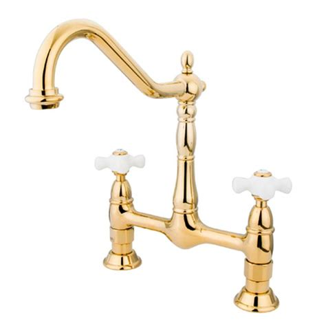 bridge style kitchen faucets selection of two handle kitchen faucets