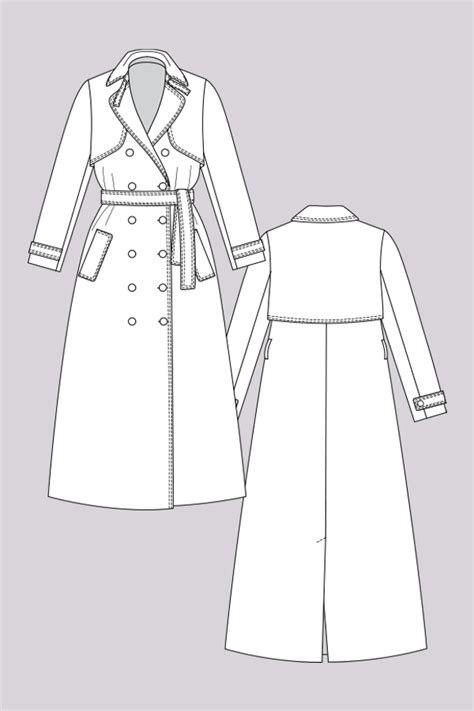 pattern and pattern making pdf named clothing isla isla trench coat downloadable pattern