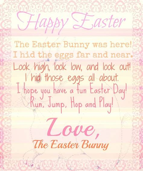 free printable letters easter bunny letter from the easter bunny printable life s all about